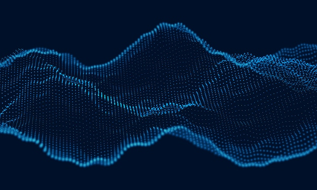 Звуковая волна динамических частиц течет по темноте