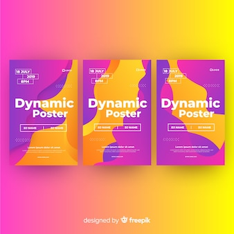 Dynamic poster template collection