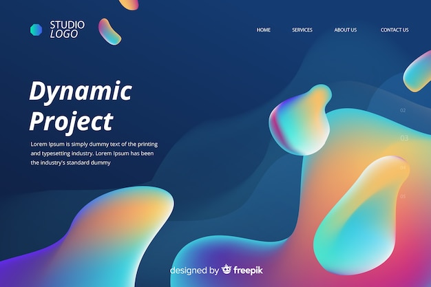 Dynamic project liquid landing page