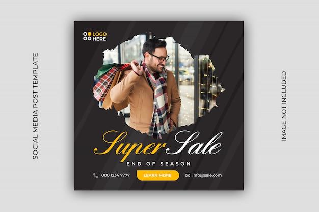 Dynamic sale social media post template