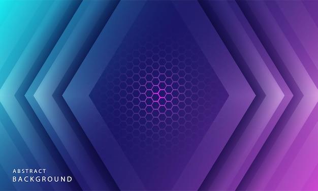Динамический простой цветовой градиент абстрактного фона с эффектами текстуры шестиугольника. векторные иллюстрации
