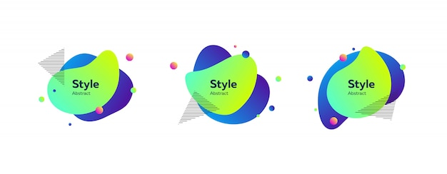 Dynamic stylish abstract figures
