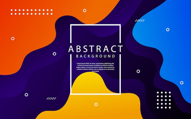Dynamic textured background in 3d style with colorful