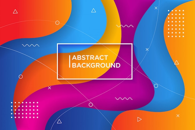 Dynamic textured background  in 3d style with colorful .