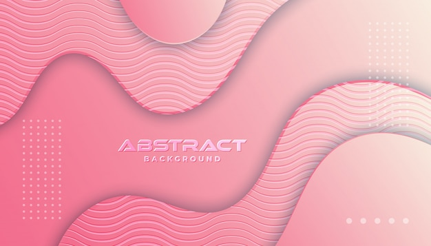 Dynamic textured background  in 3d style with pink color