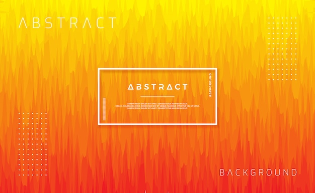 Dynamic textured background design in flat style with orange color.