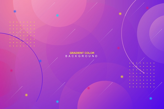 Dynamic vibrant minimal gradient background