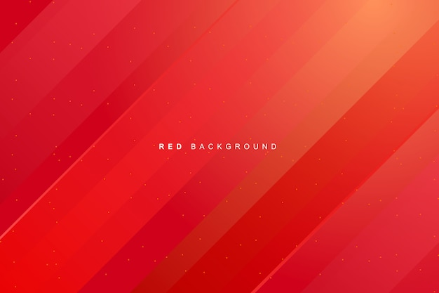 Dynamic vibrant modern red background