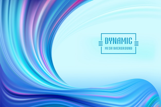 Dynamic wave mesh colorful flow. wave liquid shape color background