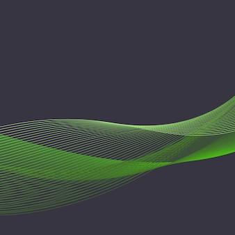 ダイナミックな波のイラスト、抽象的な背景。クリエイティブでエレガントなスタイルの画像