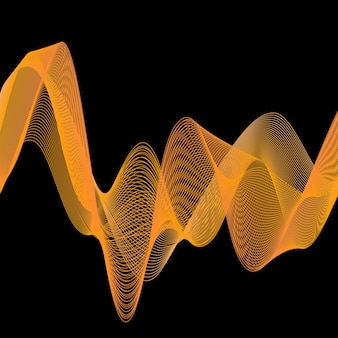 Dynamic waves illustration, abstract background. creative and elegant style image