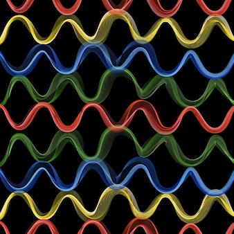 動的な波のパターン、抽象的な背景。クリエイティブでエレガントなスタイルのイラスト