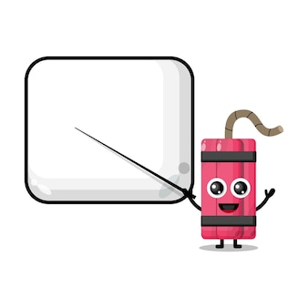 Dynamite becomes a teacher cute character mascot