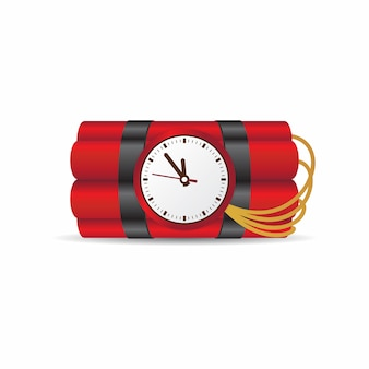 Dynamite with clock
