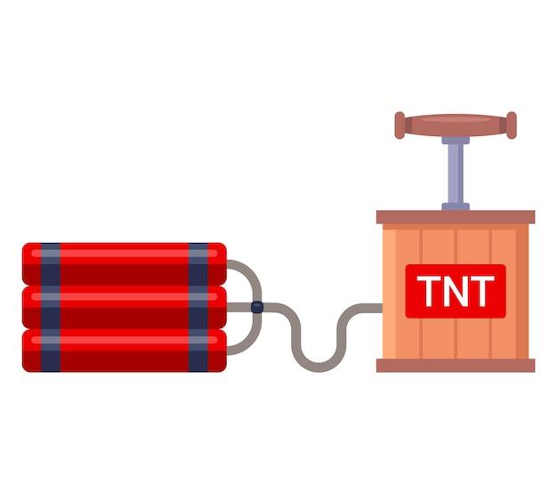 Динамит с детонатором для взрывных работ.