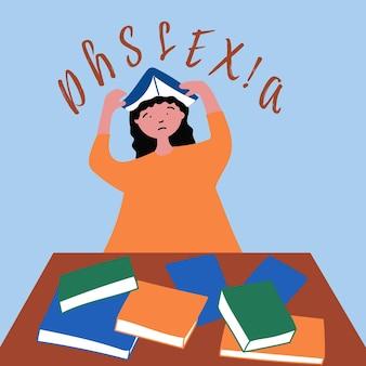 Dyslexia in the girl