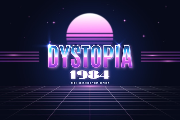 Dystopia 1984 text effect