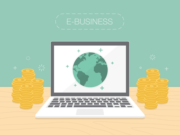 E-business background design