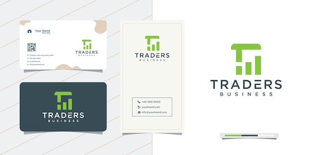 E-business initials and business card