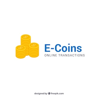 E coins money logo template