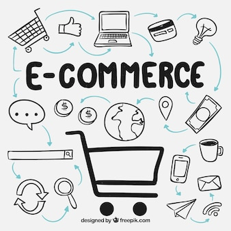 E-commerce background design