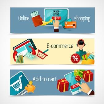 E-commerce banner set
