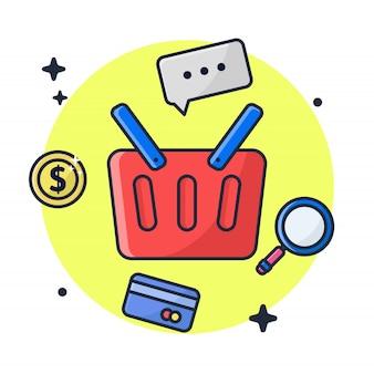 E commerce cart illustration