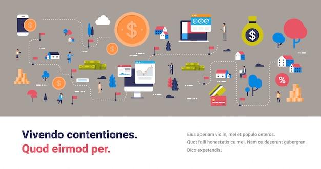 電子商取引チャートマップ、お金、オンライン決済、コンピューター、モバイル接続、アプリケーションの概念等角投影図