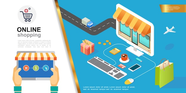 E-commerce colorful concept