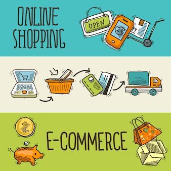 E-commerce design sketch banner