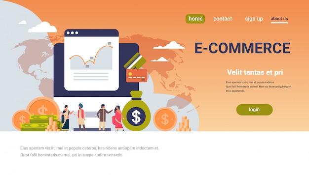 E-commerce financial money graph banner