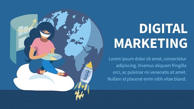 E commerce flat color banner