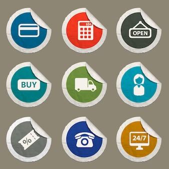 Набор иконок электронной коммерции для веб-сайтов и пользовательского интерфейса