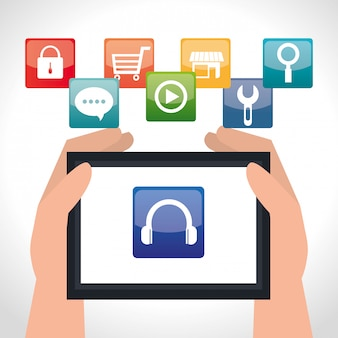 E-commerce and market mobile applications design.