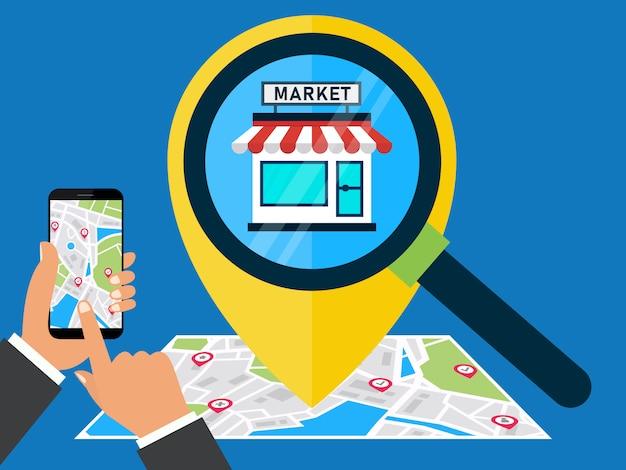 E-commerce marketing location search