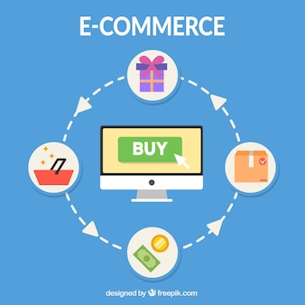 E-commerce network and computer