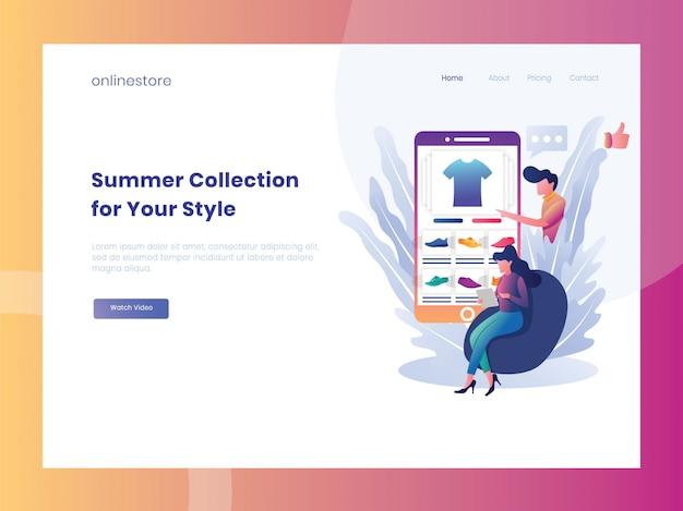 E-commerce online shop landing page