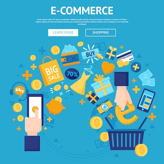 E-commerce online shop webpage design