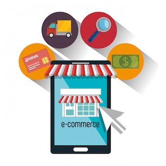 E-commerce shop online design