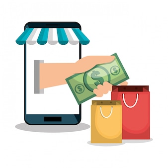 E-commerce smartphone shop online design
