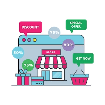 E-commerce store illustration