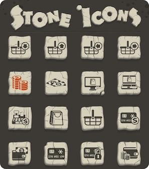 Векторные иконки электронной коммерции для веб-дизайна и дизайна пользовательского интерфейса