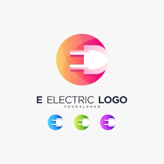 E electric logo energy