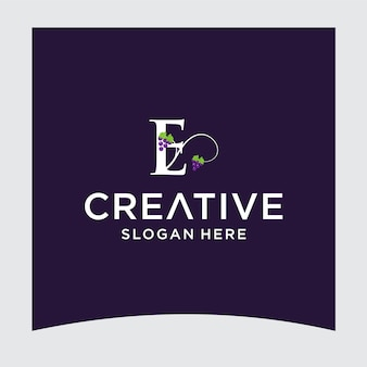 E grape logo design