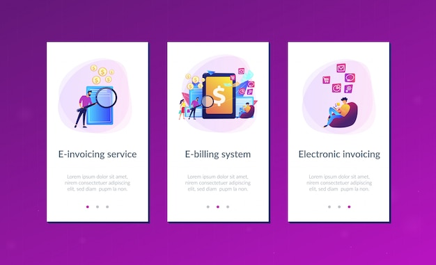 E-invoicing app interface template
