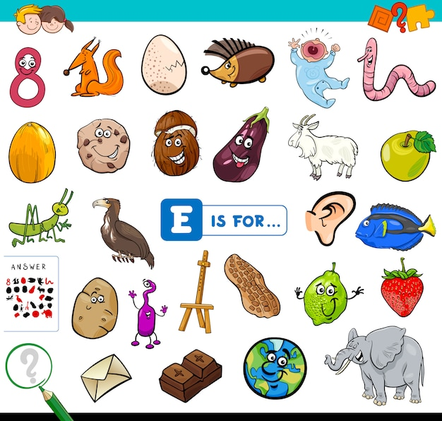 E is for educational game for children