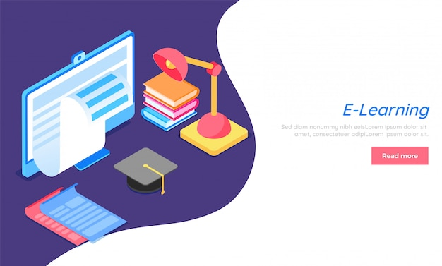 E-learning concept based website template.