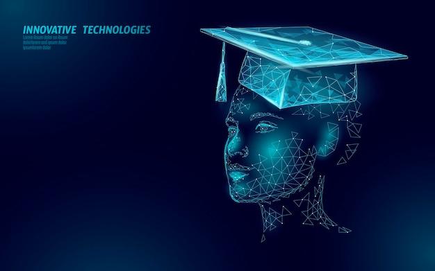 E-learning distance graduate certificate female concept