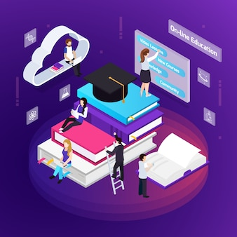 E-learning education illustration