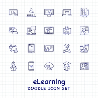 E-learning icon set